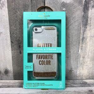 Kate Spade IPhone 7 Case Liquid Glitter NIB